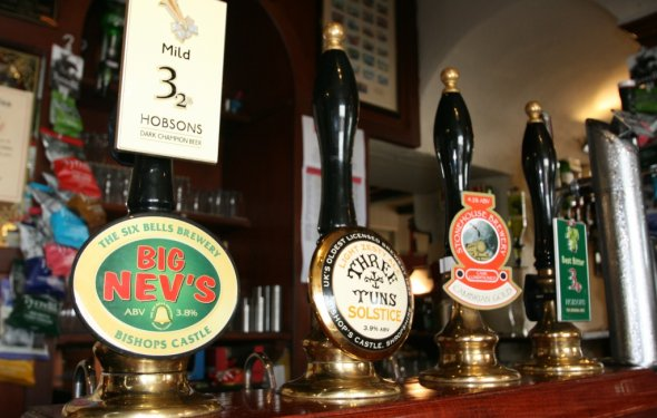 Real Ales at The Castle Hotel