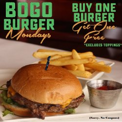 BOGO Burger Mondays internet site