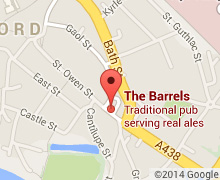 Map showing the The Barrels