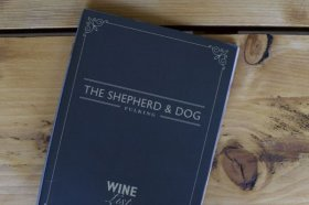 Shepherd and puppy Pub, Fulking, Sussex