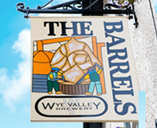 The Barrels pub sign