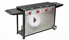 Camp Chef Somerset 4 Burner Propane Gas Grill in Stainless